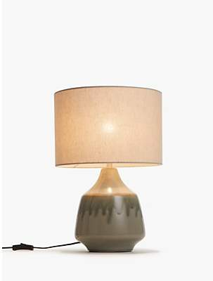 John Lewis & Partners Glazed Ceramic Table Lamp, Green