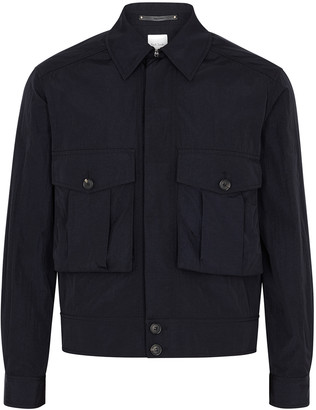 Paul Smith Navy shell bomber jacket