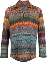 Missoni chevron pattern jumper - men - Cotton/Linen/Flax/Nylon/Viscose - M