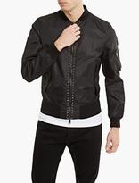 Valentino Black Rockstud Bomber Jacket