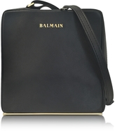 Balmain Pablito Black Leather Shoulder Bag