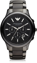 Emporio Armani Black Ceramic & Stainless Steel Men's Watch