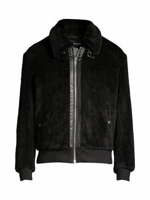 The Kooples Fleece Bomber Jacket