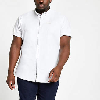 River Island Big and Tall white regular fit Oxford shirt