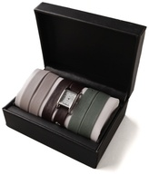 La Mer Silver Watch with Interchangeable Straps