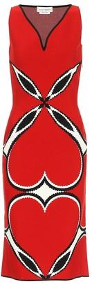 Alexander McQueen Jacquard midi dress