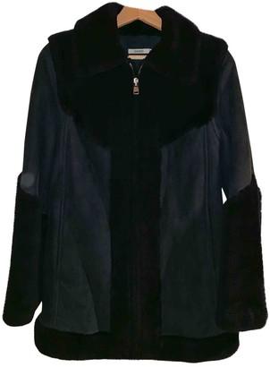 Ganni Navy Shearling Jackets