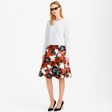 J.Crew Collection ochre floral skirt
