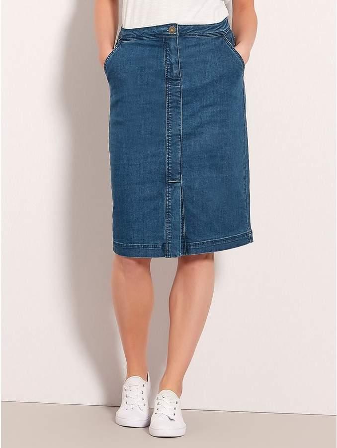 c5a6fd432ba9 Long Denim Pencil Skirt - ShopStyle UK