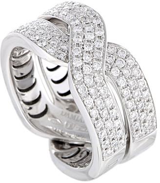 Damiani Certified 18K 0.64 Ct. Tw. Diamond Ring
