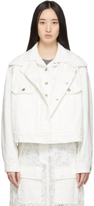 Sacai White Denim Double-Layer Jacket