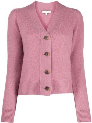 Vince Cashmere Long-Sleeve Fitted Cardigan