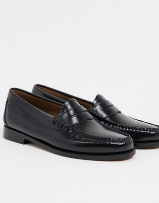 G.H. Bass G H Bass Weejun leather penny loafers in black