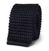 Lanvin - 5cm Grosgrain-trimmed Knitted Silk Tie