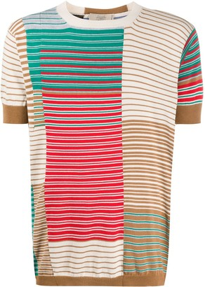 Maison Flaneur Striped Short-Sleeved Jumper