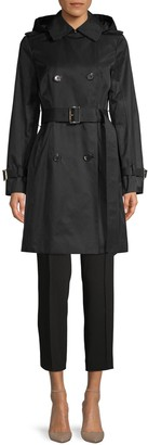MICHAEL Michael Kors Missy Belted & Hooded Trench Coat