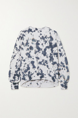 Bassike Cutout Tie-dyed Cotton-jersey Sweatshirt - Navy