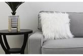 "Alanna Throw Pillow Rosdorf Park Size: 16"" x 16"", Color: Bright White"