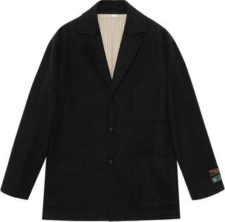 Gucci Oversized Label-Embellished Jacket