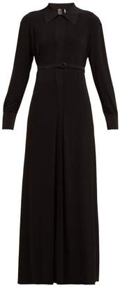 Norma Kamali Belted Maxi Dress - Womens - Black