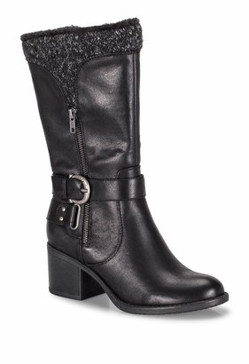 Bare Traps Willow Faux Shearling Lined Block Heel Boot