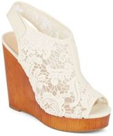 Lucky Brand Rezdah 2 Lace Wedge Sandals