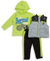 Nannette Baby Boys Athletic Vest, Top and Pants Set