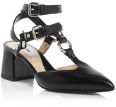 Moschino Pointed Toe Ankle Strap Pumps