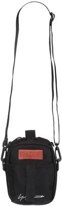Yohji Yamamoto EMBROIDERED NEW ERA CANVAS CROSSBODY BAG