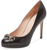 Leather Horsebit Pump
