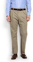 Lands' End Men's Big & Tall Pleat Front Comfort Waist No Iron Chino Pants-Steeple Gray