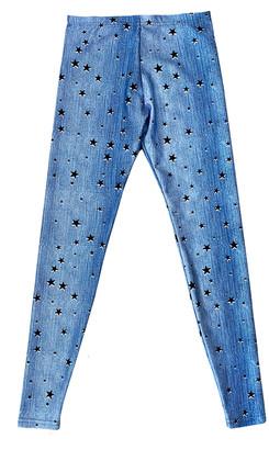 Terez Girl's Starry Denim Leggings, Size 7-16