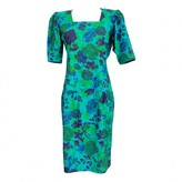 Ungaro Green Cotton Dress for Women Vintage