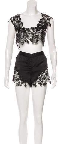 Black Crochet Shorts Shopstyle