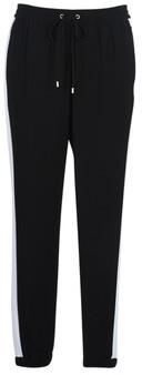 MICHAEL Michael Kors STRIPE TRACK PANT women's Trousers in Black