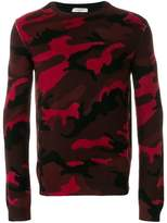 Valentino military design sweater