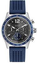 GUESS Men's Perforated Silicone Casual Watch