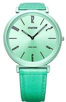 Jowissa Women's J6.121.L Fina Round Aluminum Green Sunray Dial Watch