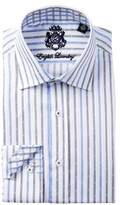 English Laundry Striped Trim Fit Dress Shirt