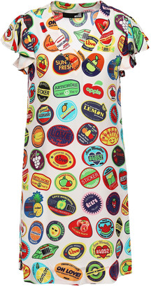 Love Moschino Printed Mousseline Mini Dress