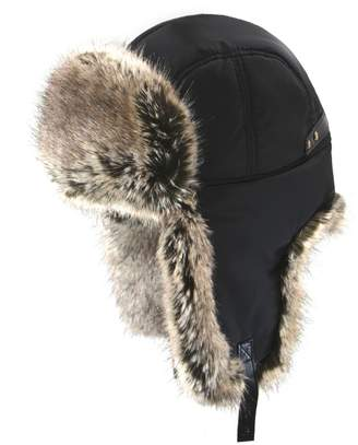 Nathaniel Cole Faux Fur-Lined Trapper Hat