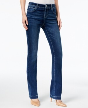 INC International Concepts Inc Petite Curvy Bootcut Tummy-Control Jeans, Created for Macy's