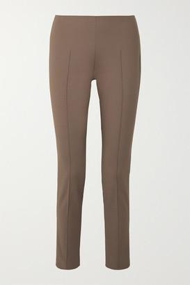 Akris Melissa Cotton-blend Slim-leg Pants - Brown