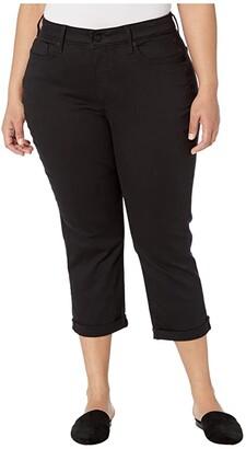 NYDJ, Plus Size NYDJ Plus Size Plus Size Chloe Capri Jeans in Black (Black) Women's Jeans