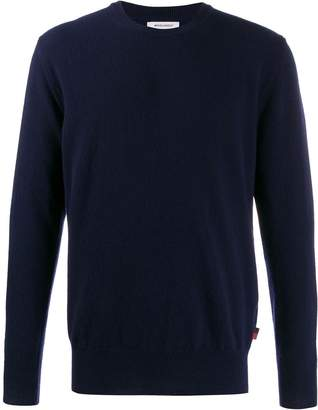 Woolrich crew-neck fitted jumper