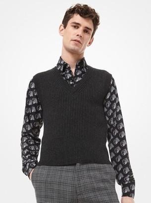 Michael Kors Cashmere V-Neck Sweater Vest