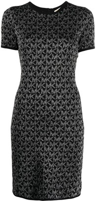 MICHAEL Michael Kors Monogram Print Knitted Dress