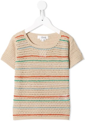 Bonpoint Knitted Short-Sleeve Top