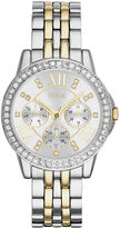 JCPenney RELIC Relic Womens Crystal-Accent Two-Tone Bracelet Watch ZR15753