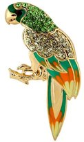 Yoursfs Vogue 18K Gold Plated Jewelry Emulational Diamond Parrot Brooch Used Austria Crystal